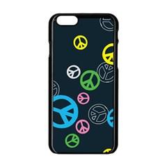 Peace & Love Pattern Apple Iphone 6/6s Black Enamel Case by BangZart