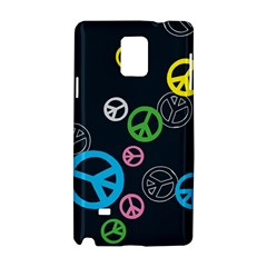 Peace & Love Pattern Samsung Galaxy Note 4 Hardshell Case by BangZart