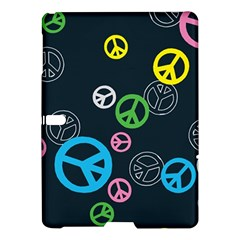 Peace & Love Pattern Samsung Galaxy Tab S (10 5 ) Hardshell Case  by BangZart