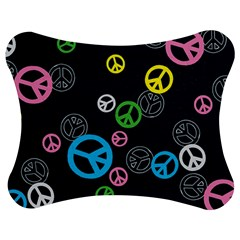 Peace & Love Pattern Jigsaw Puzzle Photo Stand (bow)