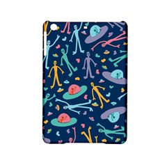 Alien Pattern Blue Ipad Mini 2 Hardshell Cases by BangZart