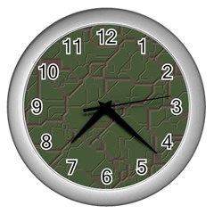 Alien Wires Texture Wall Clocks (silver)  by BangZart