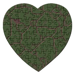 Alien Wires Texture Jigsaw Puzzle (heart)
