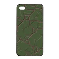 Alien Wires Texture Apple Iphone 4/4s Seamless Case (black)