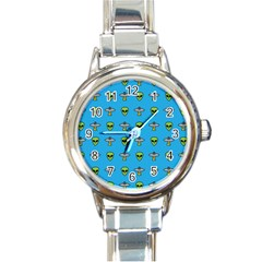 Alien Pattern Round Italian Charm Watch by BangZart