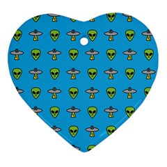 Alien Pattern Ornament (heart)