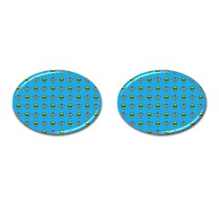 Alien Pattern Cufflinks (oval)