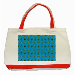 Alien Pattern Classic Tote Bag (red) by BangZart