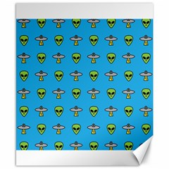 Alien Pattern Canvas 8  X 10  by BangZart