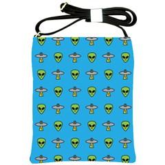 Alien Pattern Shoulder Sling Bags by BangZart