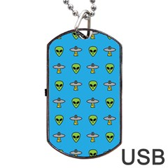 Alien Pattern Dog Tag Usb Flash (one Side) by BangZart