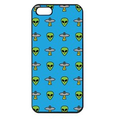 Alien Pattern Apple Iphone 5 Seamless Case (black) by BangZart