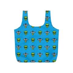 Alien Pattern Full Print Recycle Bags (s)