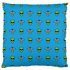 Alien Pattern Large Flano Cushion Case (two Sides) by BangZart