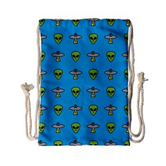 Alien Pattern Drawstring Bag (small)
