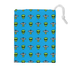 Alien Pattern Drawstring Pouches (extra Large)