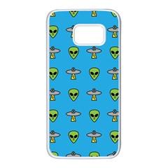 Alien Pattern Samsung Galaxy S7 White Seamless Case
