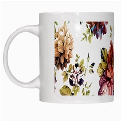 Texture Pattern Fabric Design White Mugs by BangZart
