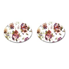 Texture Pattern Fabric Design Cufflinks (oval)