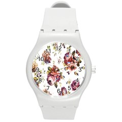 Texture Pattern Fabric Design Round Plastic Sport Watch (m) by BangZart
