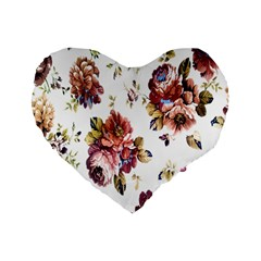 Texture Pattern Fabric Design Standard 16  Premium Flano Heart Shape Cushions by BangZart