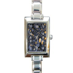 Monster Cover Pattern Rectangle Italian Charm Watch
