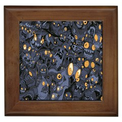 Monster Cover Pattern Framed Tiles