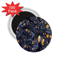 Monster Cover Pattern 2 25  Magnets (100 Pack)  by BangZart