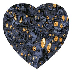 Monster Cover Pattern Jigsaw Puzzle (heart) by BangZart
