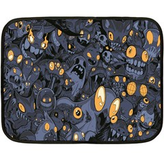 Monster Cover Pattern Double Sided Fleece Blanket (mini)  by BangZart