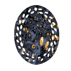 Monster Cover Pattern Ornament (oval Filigree) by BangZart