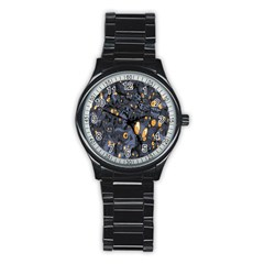 Monster Cover Pattern Stainless Steel Round Watch by BangZart