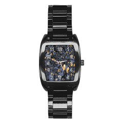 Monster Cover Pattern Stainless Steel Barrel Watch