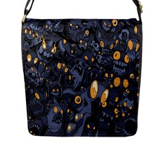 Monster Cover Pattern Flap Messenger Bag (l)  by BangZart