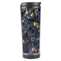 Monster Cover Pattern Travel Tumbler by BangZart