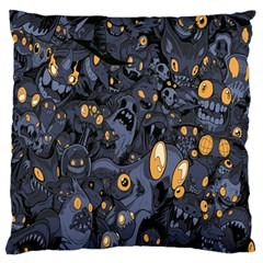 Monster Cover Pattern Large Flano Cushion Case (one Side) by BangZart