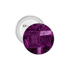 Purple Background Patchwork Flowers 1 75  Buttons by BangZart
