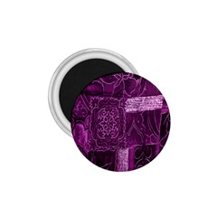 Purple Background Patchwork Flowers 1 75  Magnets