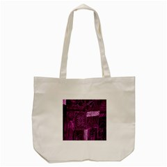 Purple Background Patchwork Flowers Tote Bag (cream) by BangZart