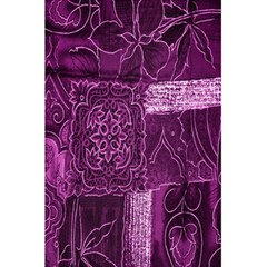 Purple Background Patchwork Flowers 5 5  X 8 5  Notebooks by BangZart