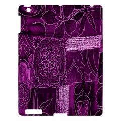 Purple Background Patchwork Flowers Apple Ipad 3/4 Hardshell Case by BangZart