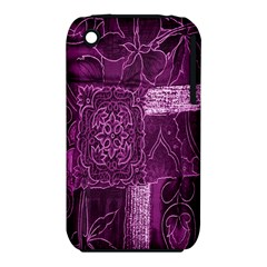 Purple Background Patchwork Flowers Iphone 3s/3gs