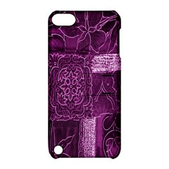 Purple Background Patchwork Flowers Apple Ipod Touch 5 Hardshell Case With Stand by BangZart