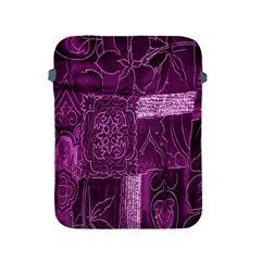 Purple Background Patchwork Flowers Apple Ipad 2/3/4 Protective Soft Cases