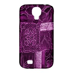 Purple Background Patchwork Flowers Samsung Galaxy S4 Classic Hardshell Case (pc+silicone)