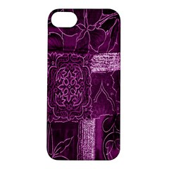 Purple Background Patchwork Flowers Apple Iphone 5s/ Se Hardshell Case by BangZart
