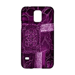 Purple Background Patchwork Flowers Samsung Galaxy S5 Hardshell Case  by BangZart