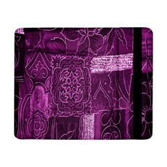 Purple Background Patchwork Flowers Samsung Galaxy Tab Pro 8 4  Flip Case by BangZart