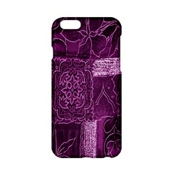 Purple Background Patchwork Flowers Apple Iphone 6/6s Hardshell Case by BangZart