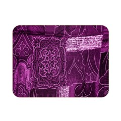 Purple Background Patchwork Flowers Double Sided Flano Blanket (mini)